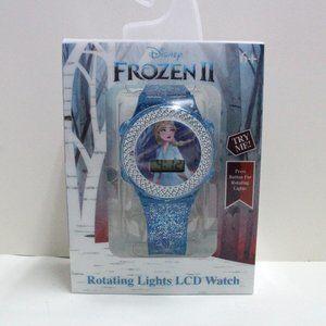 Disney Frozen II Rotating Lights LCD Watch